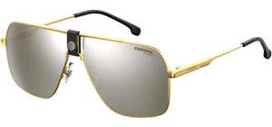 Carrera Men's Gold-Tone Navigator Sunglasses w/ Mirror Lens - CA1018S 0RHL T4