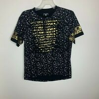 Attitude Gold Mens L Black/White/Gold Short Sleeve Shirt