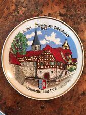 Vtg Kahla Plate Made In GDR Village Church 1982