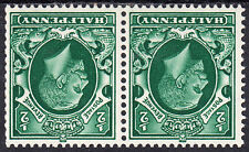 KGV 1934-6 2x ½d Green Photogravure Watermark Inverted SG439Wi N47a LMM