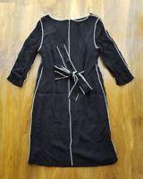BODEN LADIES GORGEOUS black Kelly jersey dress. UK size 12L. WW104 BRAND NEW.