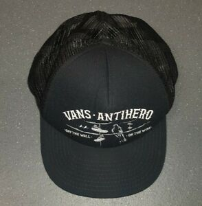 VANS Antihero Off The Wall On The Wire Skating, Baseball Cap ,Black , One Size
