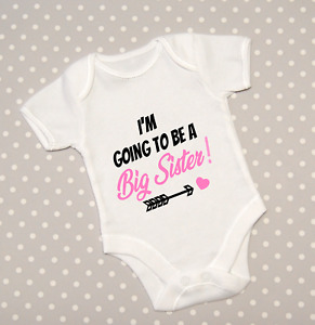 I'm going to be a Big Sister Announcement Baby Grow Babygrow Top Bodysuit Gift