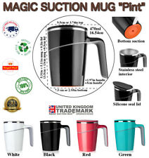 MAGIC SUCTION MUG Pint ✈Non-spill Travel coffee cup for all Mighty Tasks