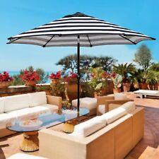 Blissun 9' Outdoor Market Patio Umbrella Push Button Tilt Crank Open Close Black