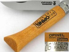 Opinel France No 6 Beechwood Safety Locking Carbon Steel Blade Knife
