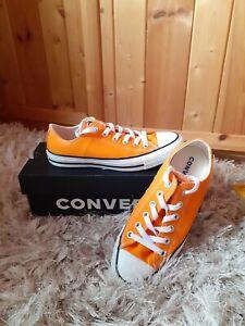 Ladies Orange Converse All Star Size 6 - Hardly Worn