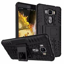 Hybrid Case 2-piece Outdoor Cover Pouch Accessories for Smartphones Zenfone 3 Ze552kl 5.5 ASUS Black