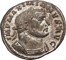 MAXIMIAN 301AD Rare Big Ancient Roman Coin GENIUS Protection Wealth  i57501