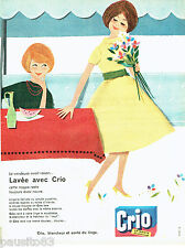 PUBLICITE ADVERTISING 056  1959  la  lessive Crio
