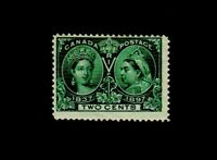CANADA, SCOTT # 52, 1897 Queen Victoria Issue, 2c Green M-VLH