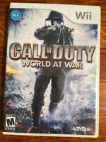Call of Duty: World At War Nintendo Wii Game Shooter COD Soldier Wargame