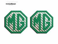 MG TF LE500 Styled 70mm Badge Insert Set Of 2 Front Rear Logo GreenCarbon Fibre