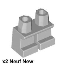 Lego 2 jambes courtes gris clair Neuf Light Bluish Gray Legs short NEW REF 41879