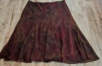 Womens Chaps Multi Color Skirt Pleated Sheer Size 4