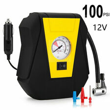 100 PSI Tire Inflator Car Air Pump Compressor Electric Portable Auto 12V DC Volt