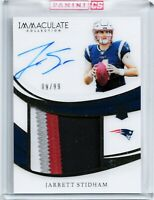 #'d 09/99 Panini Immaculate Jarrett Stidham 4 color Patch rpa rc auto 2019 patch