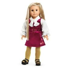 American Girl Julie CHRISTMAS OUTFIT dress tights jumper blouse shoes    NO DOLL