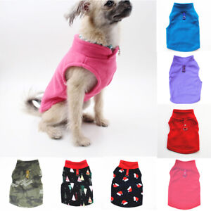 Pet Dog Warm Coat Fleece Jacket Jumper Sweater Winter Clothes Puppy Vest Outfit*