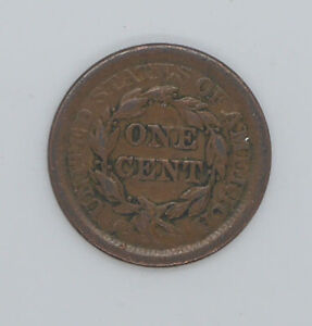 1853 United States One cent coin F-VF condition