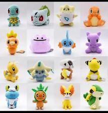 16 Pokemon Stuffed Figurines Anime Stuffed Animals Plush Fynx Shiggy Set