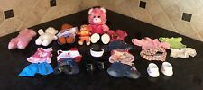 BUILD-A-BEAR AND LIL LUVABLES BEARS LOT WITH CLOTHES AND ACCESSORIES