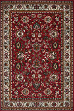Tapis d'Orient classique Persia Tapis poil ras Tapis floral style rouge 80x150