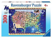 Ravensburger Usa Map - 300 Pieces Puzzle COMPLETE New Sealed pieces Geography