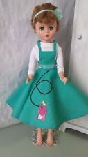 """Handmade Poodle Skirt Deluxe Reading Bride Grocery Doll 24"""""""