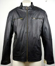 CAMEL ACTIVE 5520 Leather Jacket Lederjacke Herren Black Gr.56 NEU mit ETIKETT