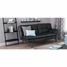 Futon Sofa Bed Couch Sleeper Convertible Full Size Memory Foam Mattress Black