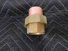 "1 1/2"" COPPER  BRASS SWEAT UNION BRASS NUT 1 side copper 1 side brass"