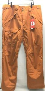 The North Face Men's Freedom Snow Ski Pant Small Autumnal Orange NEW
