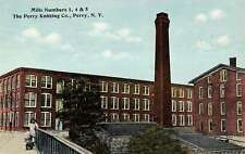 Perry New York Knitting Co Mill Exterior Street View Antique Postcard K19933