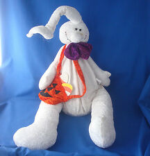 "Halloween Whimsical shelf sitter plush ghost 24"" Creative Design Ltd"