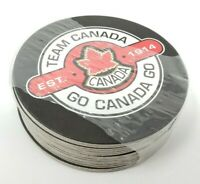 Team Canada Hockey Team Circle Coasters NEW Sealed