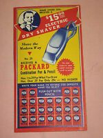 VINTAGE ELECTRIC DRY SHAVER ADVERTISING CARD