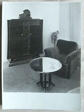 MOBILIER ART DECO Jules  LELEU ? photographie d'époque armoire fauteuil guéridon