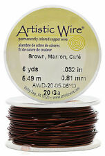 Rich Brown Artistic Craft Wire Non Tarnish 6 Yd Wrapping Craft Project 20 Gauge