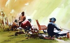 """Doug Lew """"Sketches"""" Original Watercolor artists PAINTING SUBMIT BEST OFFER"""