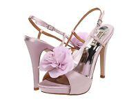 NIB Badgley Mischka Zabrina Wedding Bridal heel sandals open toe shoes LILAC 10