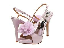NIB Badgley Mischka Zabrina Wedding Bridal heel sandals open toe shoes LILAC 10
