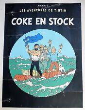 Sérigraphie TINTIN COKE EN STOCK ESCALE à PARIS HerGé Casterman 1988 1500 EX