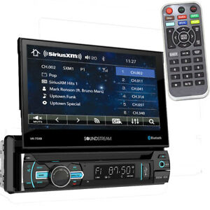 Soundstream VR-75XB Single DIN Bluetooth DVD/CD Car Stereo w/ Flipout Screen