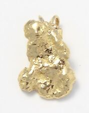 14k Yellow Gold Nugget Style Charm Necklace Pendant