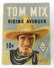 1936 TOM MIX in The RIDING AVENGER Dell Fast Action Big Little Book BLB soft tm