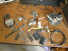 1980 Suzuki RM100 CDI Brake Hub Perch Foot Pegs Tank Dampers Axle Etc Parts Lot