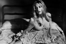Valley of the Dolls Sharon Tate sexy pose in see-thru neglige on bed Poster
