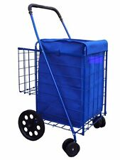 2 PC folding shopping cart (LINER)  jumbo size  CART NOT INCLUDED color blue