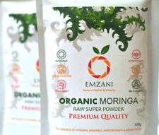 2X MORINGA Pure Organic Raw Powder 100 g PREMIUM QUALITY (U.K) by EMZANI